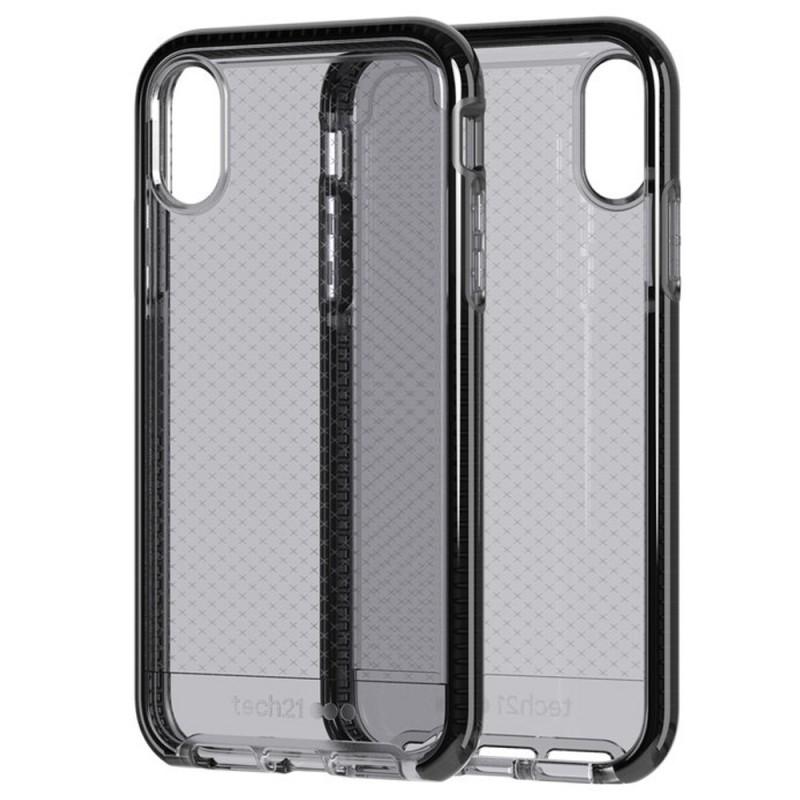 Tech21 - Evo Check iPhone XR Hoesje Zwart Transparant 05