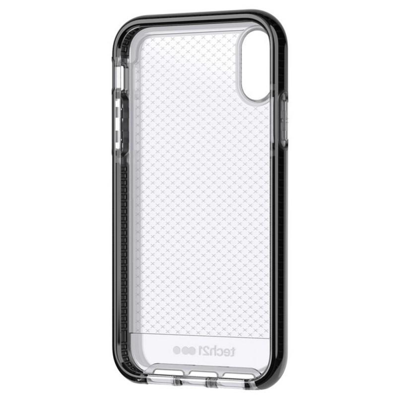 Tech21 - Evo Check iPhone XR Hoesje Zwart Transparant 06