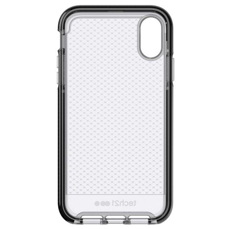 Tech21 - Evo Check iPhone XR Hoesje Zwart Transparant 08