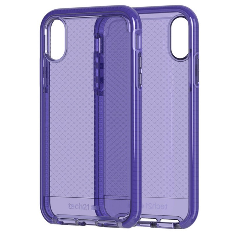 Tech21 Evo Check iPhone XR Hoesje Violet 07