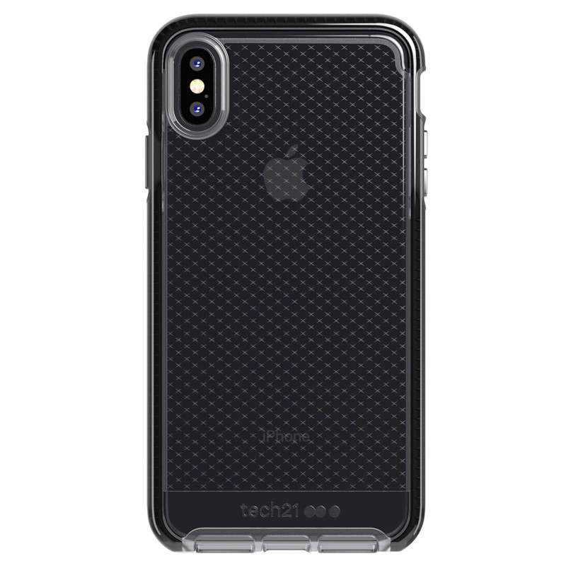 Tech21 Evo Check iPhone XS Max Hoes Smokey Black 01