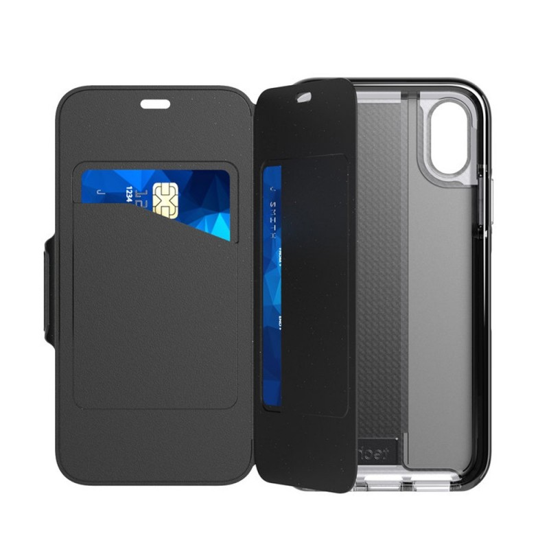 Tech21 Evo Wallet iPhone X/XS Hoes Zwart 08