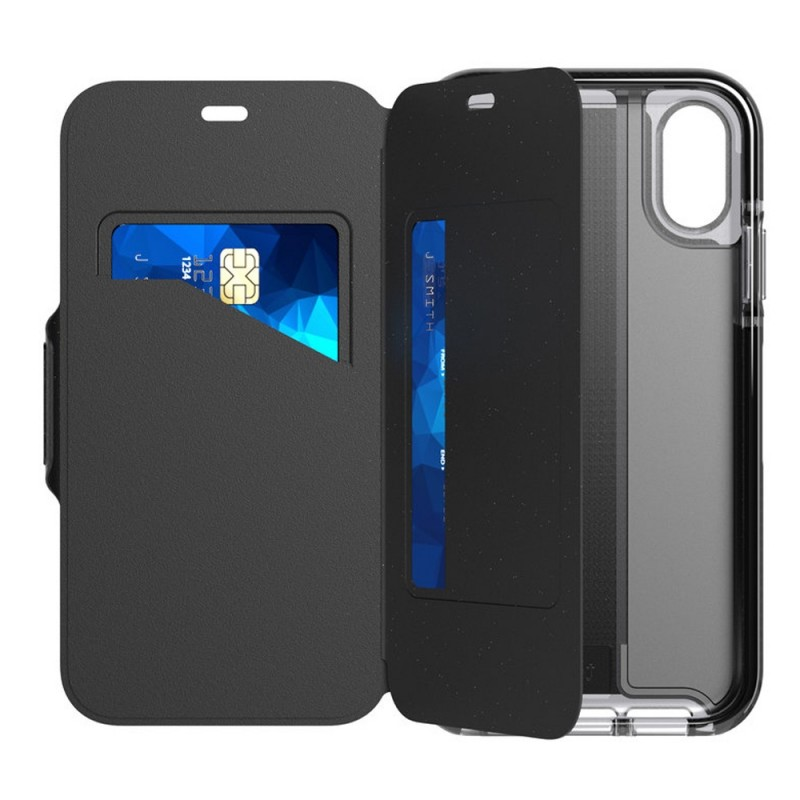 Tech21 Evo Wallet iPhone XR Case Zwart 03