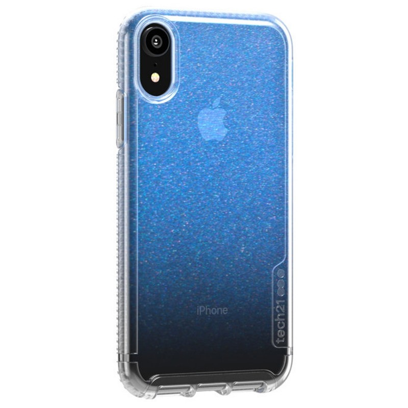 Tech21 Pure Shimmer iPhone XR Hoesje Blauw Transparant 02