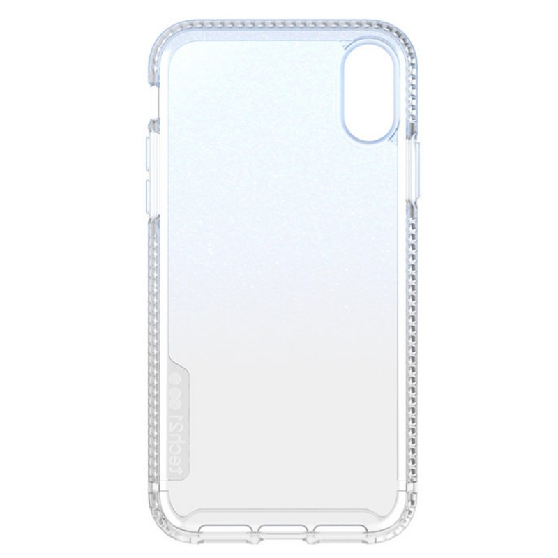 Tech21 Pure Shimmer iPhone XR Hoesje Blauw Transparant 05