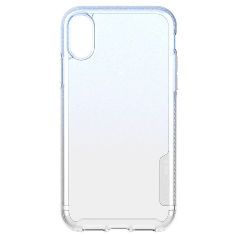 Tech21 Pure Shimmer iPhone XR Hoesje Blauw Transparant 07