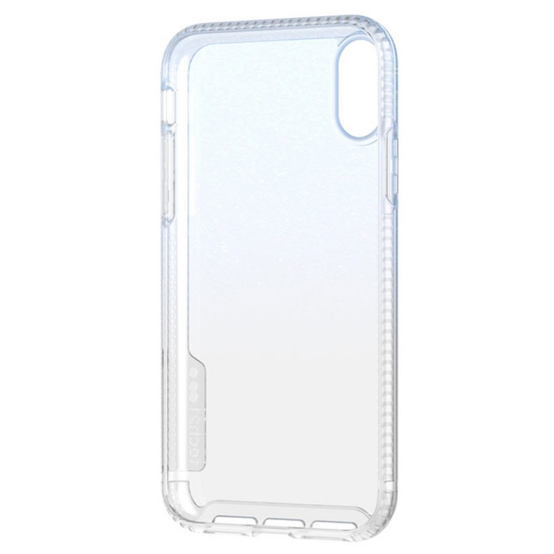 Tech21 Pure Shimmer iPhone XR Hoesje Blauw Transparant 08