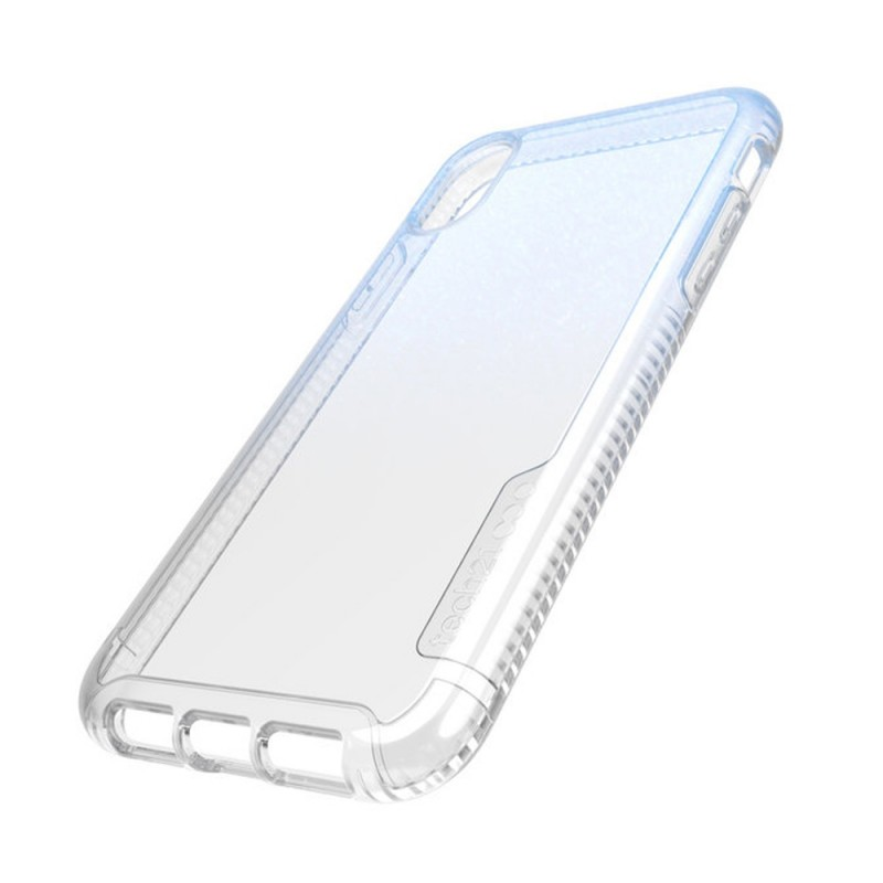 Tech21 Pure Shimmer iPhone XR Hoesje Blauw Transparant 09