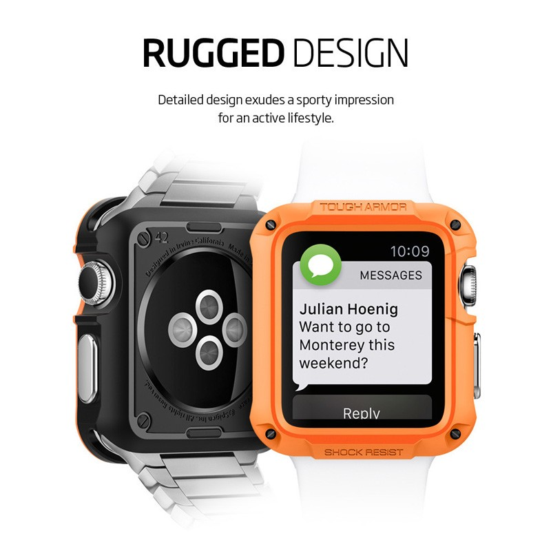Spigen Tough Armor Case Apple Watch 42mm Gun Metal - 3