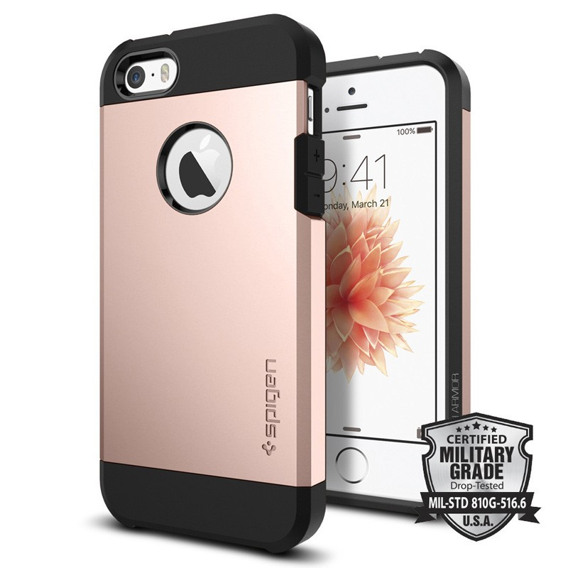 Spigen Tough Armor Case iPhone SE / 5S / 5 Rose Gold - 4