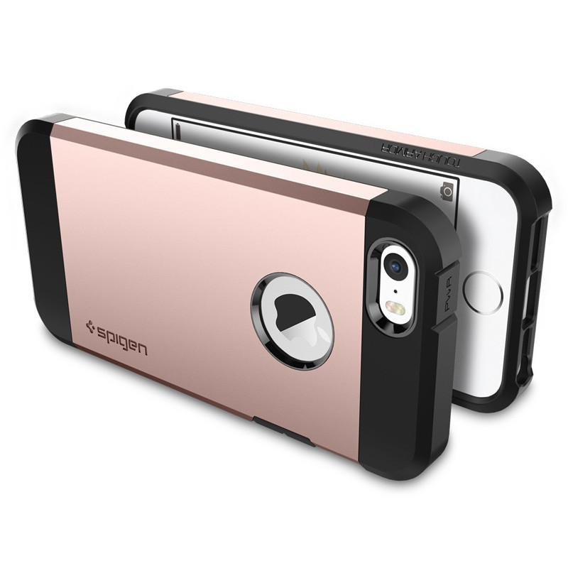 Spigen Tough Armor Case iPhone SE / 5S / 5 Rose Gold - 6