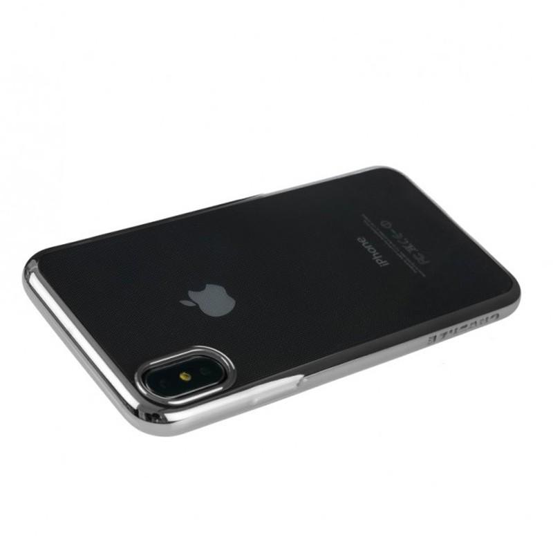 Tucano Elektro Flex iPhone X/Xs Hoesje zilver 01