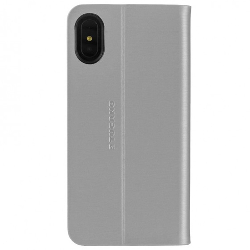 Tucano Filo iPhone X/Xs Folio Hoes Zilver 03