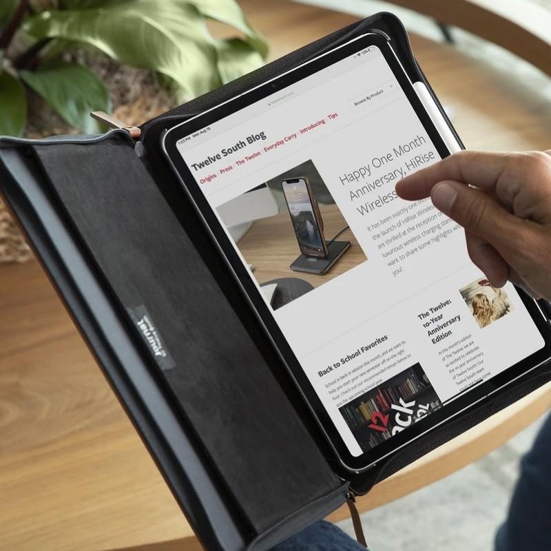 Twelve South - Journal Folio iPad Pro 11 inch cognac bruin 06