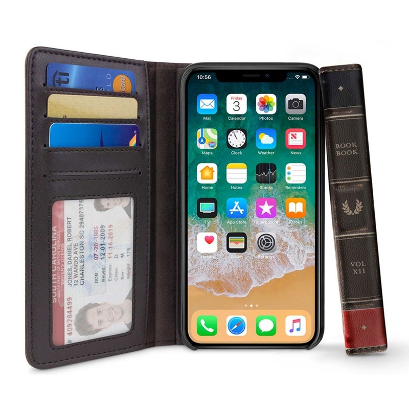 Twelve South BookBook iPhone XS Max Hoes bruin leer 01