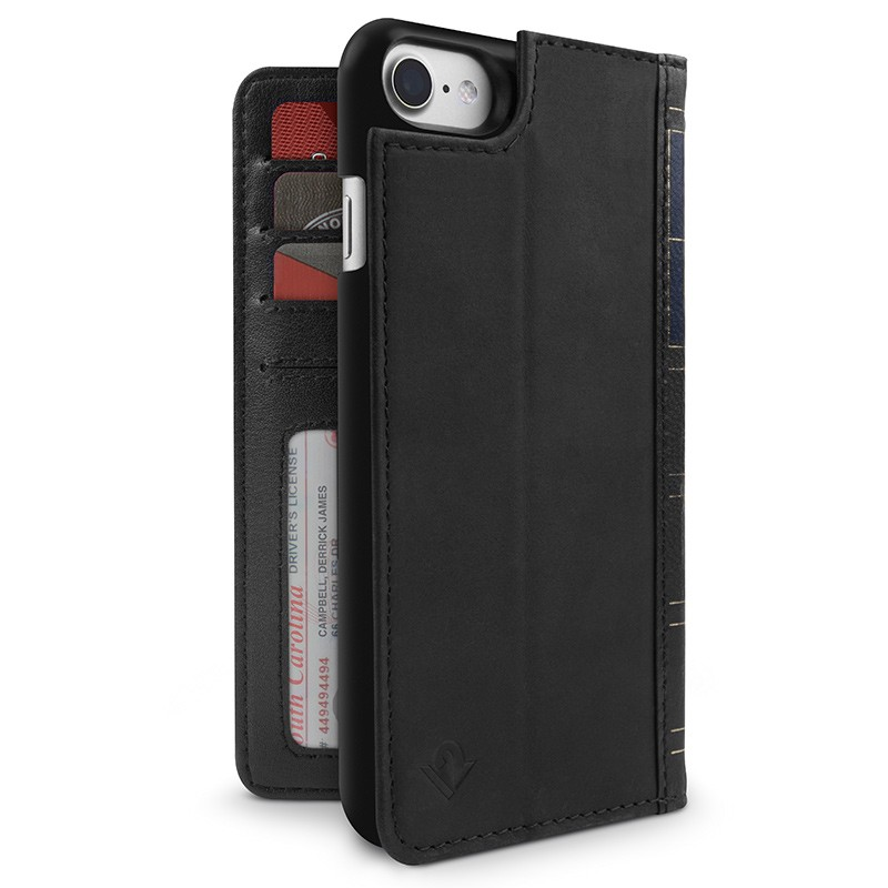 Twelve South - BookBook iPhone 7 hoesje Black 01