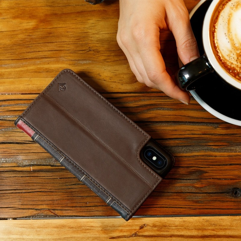Twelve South BookBook iPhone X/Xs Wallet Bruin - 4
