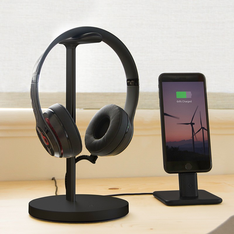 Twelve South - Fermata Headphone Charging Stand Black 08