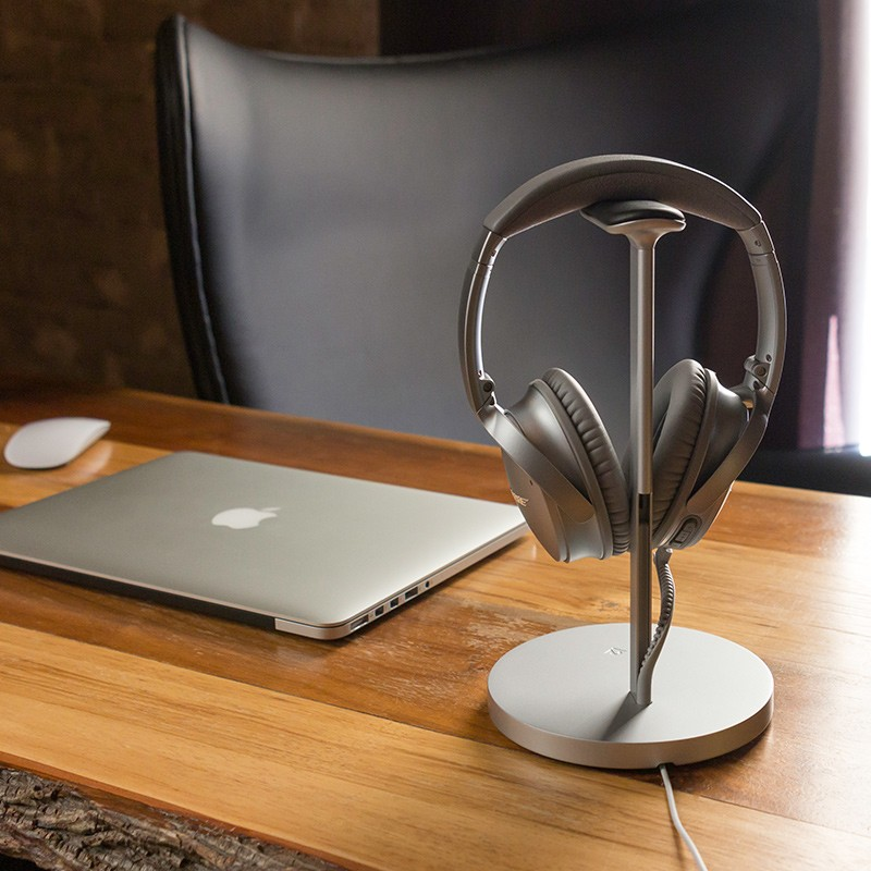 Twelve South - Fermata Headphone Charging Stand Silver 09