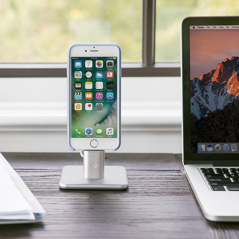 Twelve South - HiRise 2 Deluxe voor iPhone en iPad Silver 08