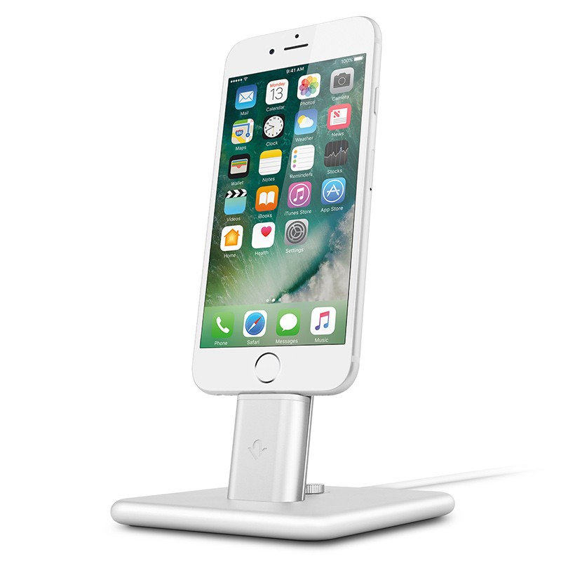 Twelve South - HiRise 2 Deluxe voor iPhone en iPad Silver 01