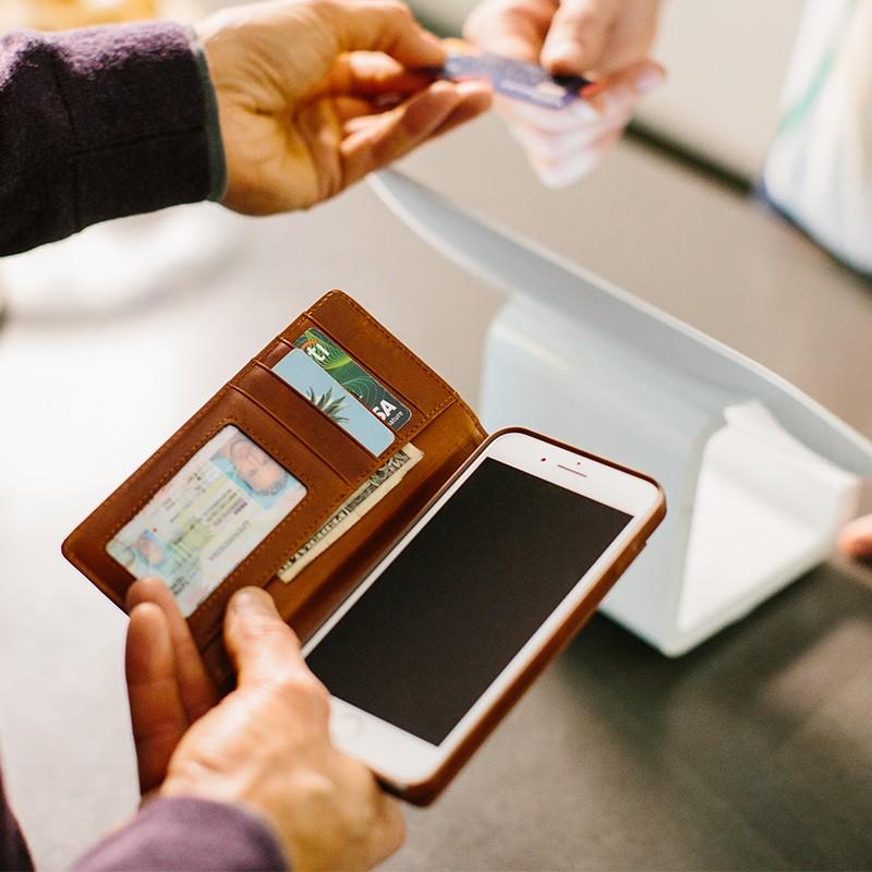 Twelve South - Journal Wallet iPhone 7 Plus hoesje Brown 06