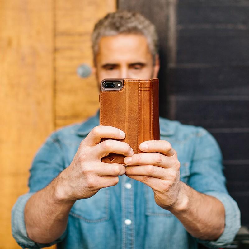 Twelve South - Journal Wallet iPhone 7 Plus hoesje Brown 09