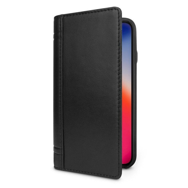 Twelve South Journal Leather Wallet iPhone X/Xs Zwart - 2