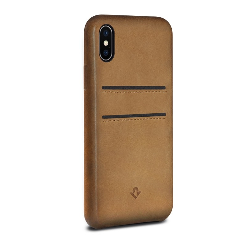 Twelve South Relaxed Leather Wallet iPhone X/Xs Cognac - 1