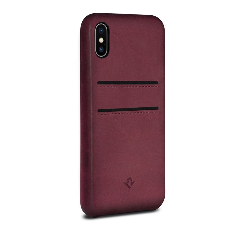 Twelve South Relaxed Leather Wallet iPhone X/Xs Marsala - 1