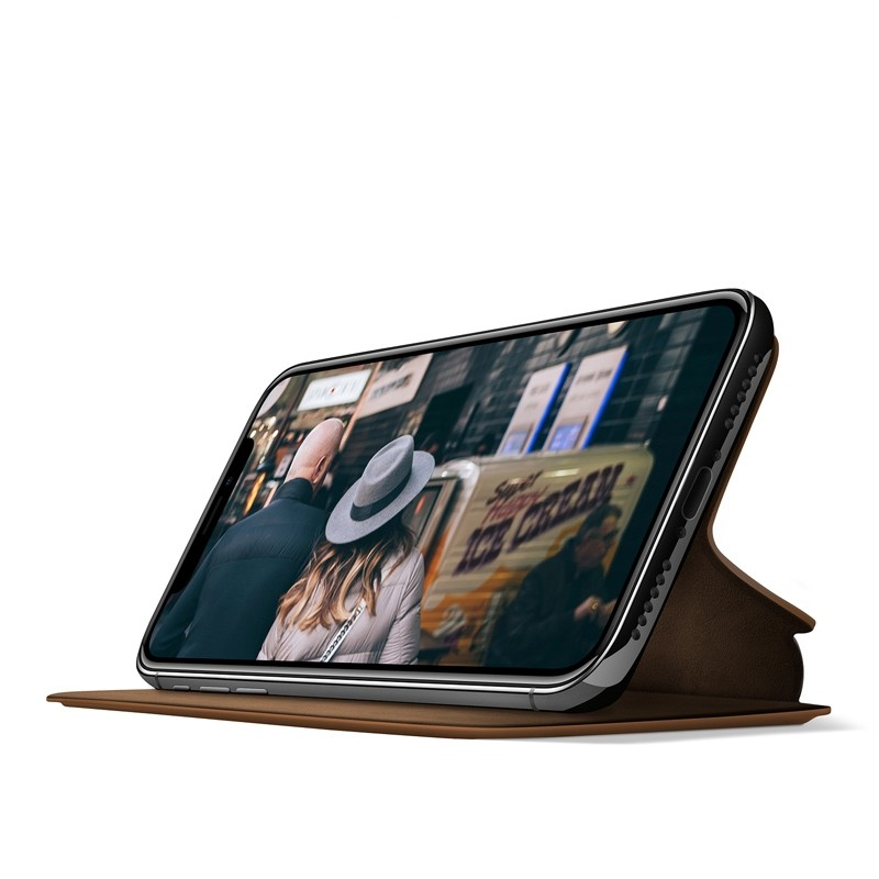 Twelve South SurfacePad iPhone XS Max Hoesje Bruin Leer 02