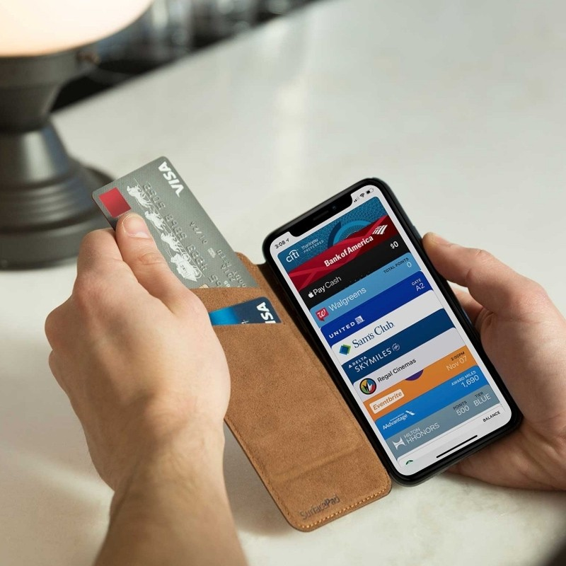 Twelve South SurfacePad iPhone XS Max Hoesje Bruin Leer 04