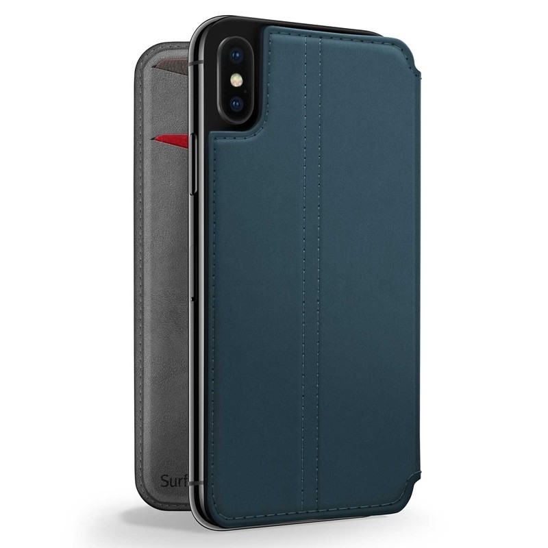 Twelve South SurfacePad iPhone XS Max Hoesje Teal Leer 01