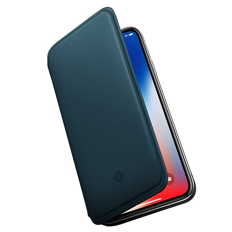 Twelve South SurfacePad iPhone XS Max Hoesje Teal Leer 03