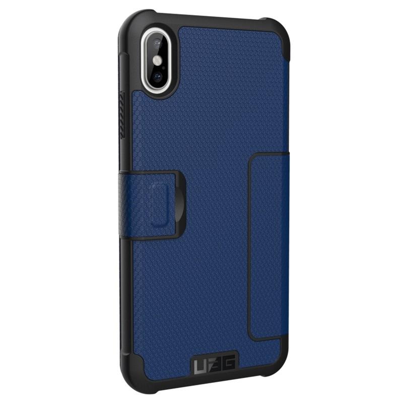UAG Metropolis iPhone XS Max Hoesje Cobalt Blue 04