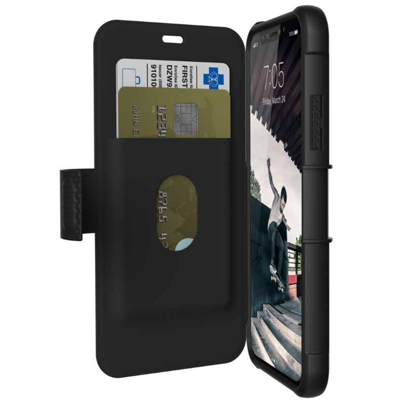 UAG - Metropolis iPhone X/Xs Folio Case Black 01