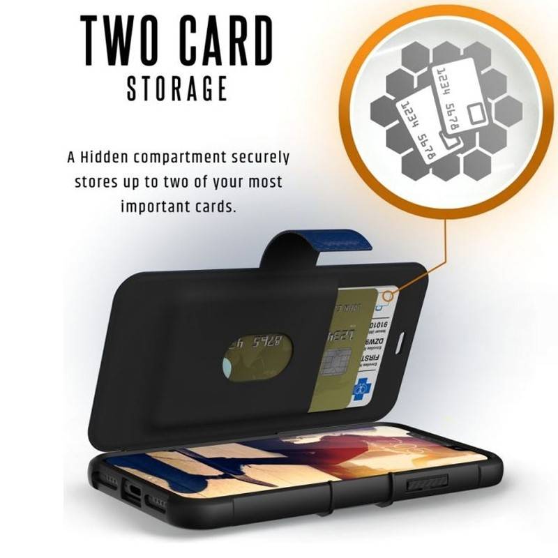 UAG Metropolis iPhone X/Xs Folio Case Cobalt Blue 08