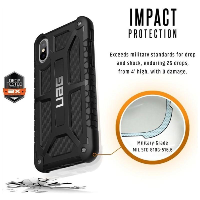 UAG Monarch iPhone X/Xs Hoesje Carbon Black 06