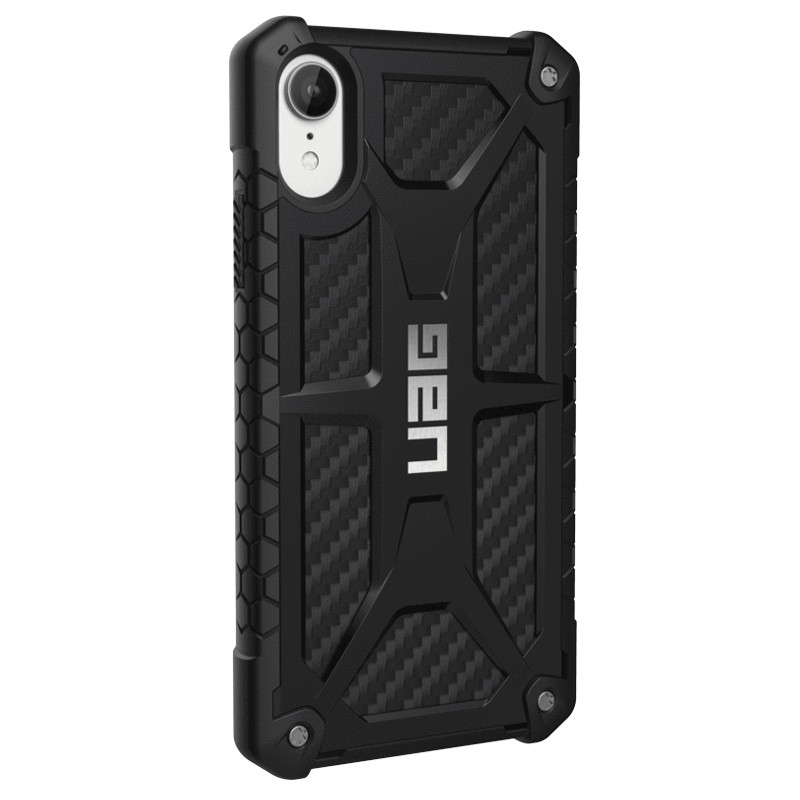 UAG Monarch iPhone XR Hoes Carbon Zwart 03