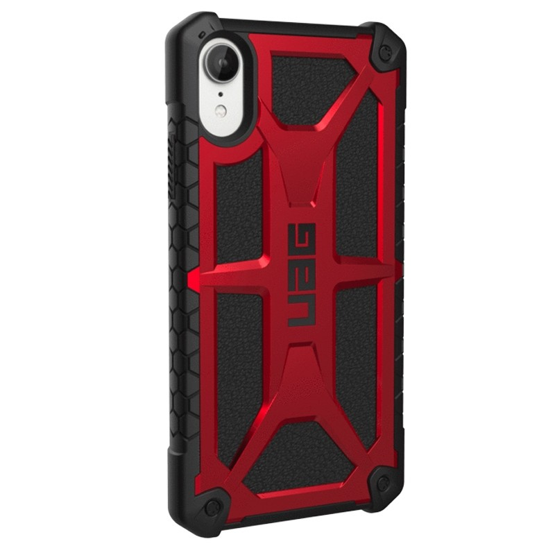 UAG Monarch iPhone XR Hoes Rood Zwart 03