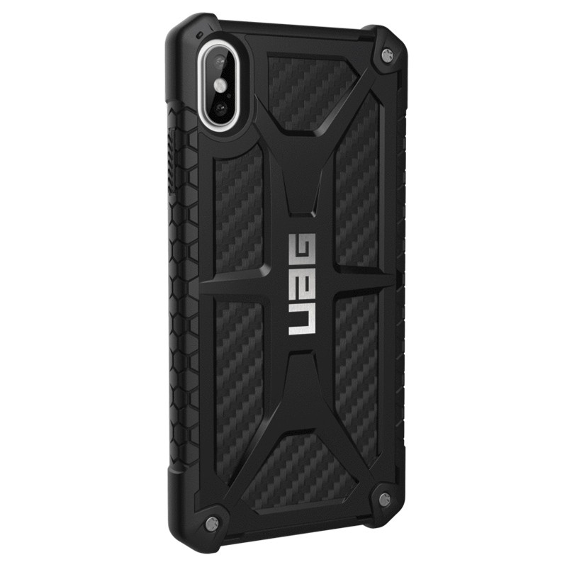 UAG Monarch iPhone XS Max Carbon Zwart 04