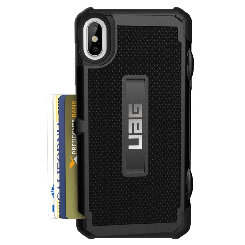 UAG Trooper Card Case iPhone XS Max Zwart 01