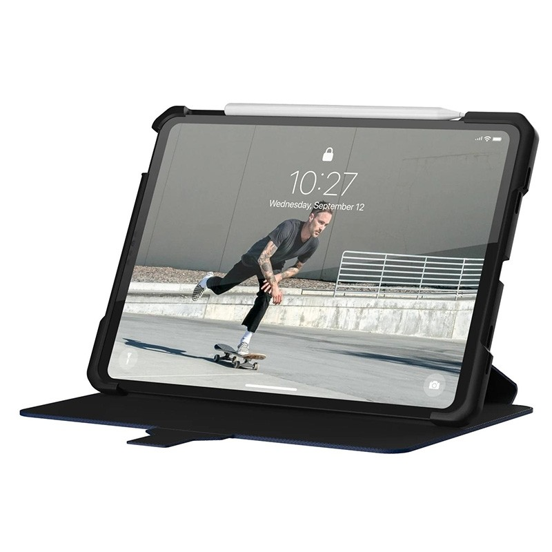 UAG Metropolis iPad Air 10.9 (2020) / iPad Pro 11 inch (2021/2020/2018) Folio Hoes Blauw 06
