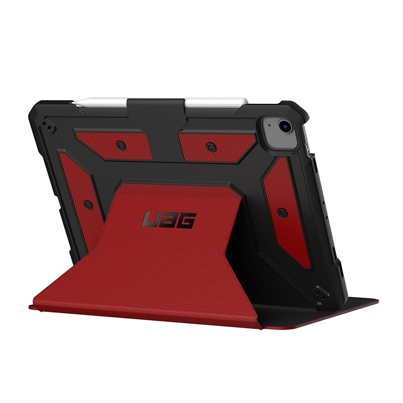 UAG Metropolis iPad Air 10.9 (2020) / iPad Pro 11 inch (2021/2020/2018) Folio Hoes Rood 04