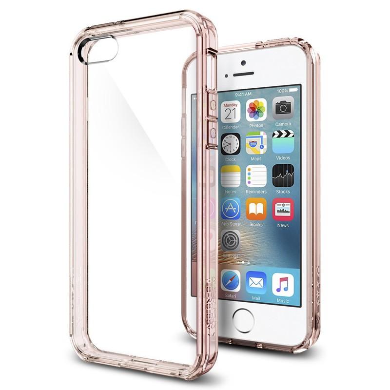 Spigen Ultra Hybrid Case iPhone SE / 5S / 5 Rose Gold - 4