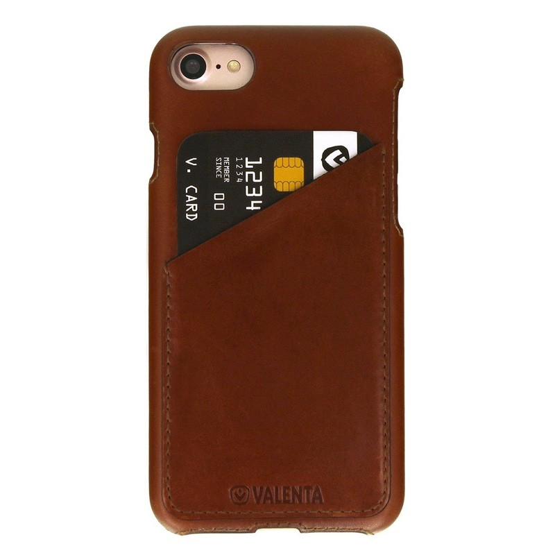 Valenta Back Cover Classic Luxe iPhone 7 Brown - 1