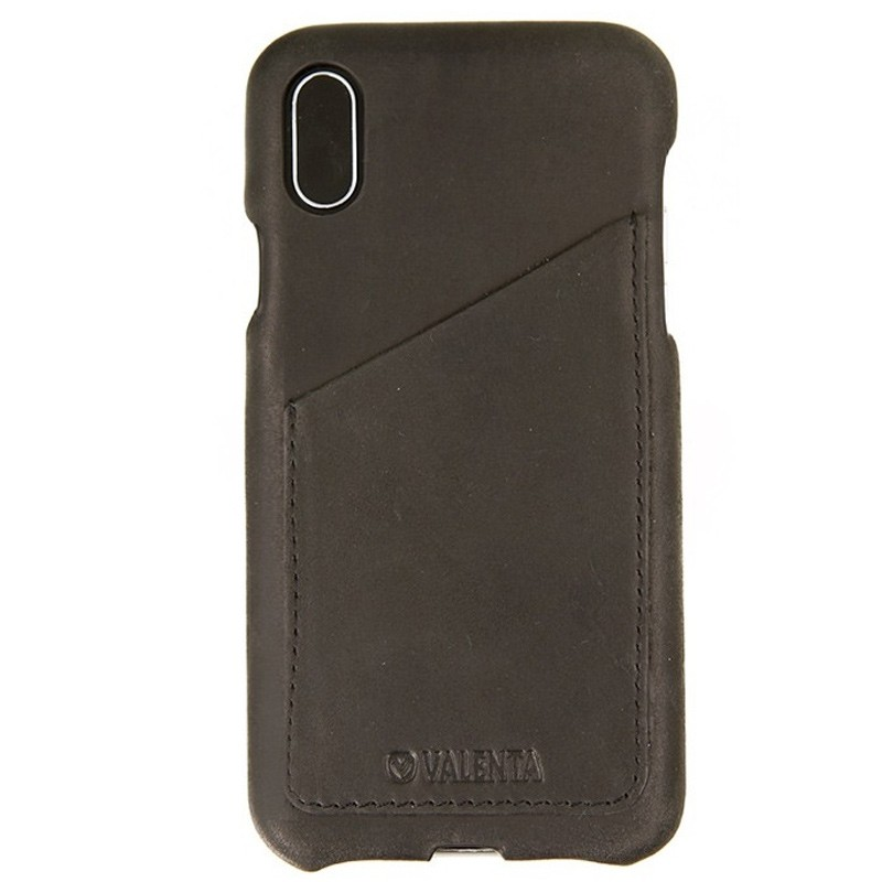 Valenta Back Cover Classic Luxe iPhone X/Xs Vintage Black - 1