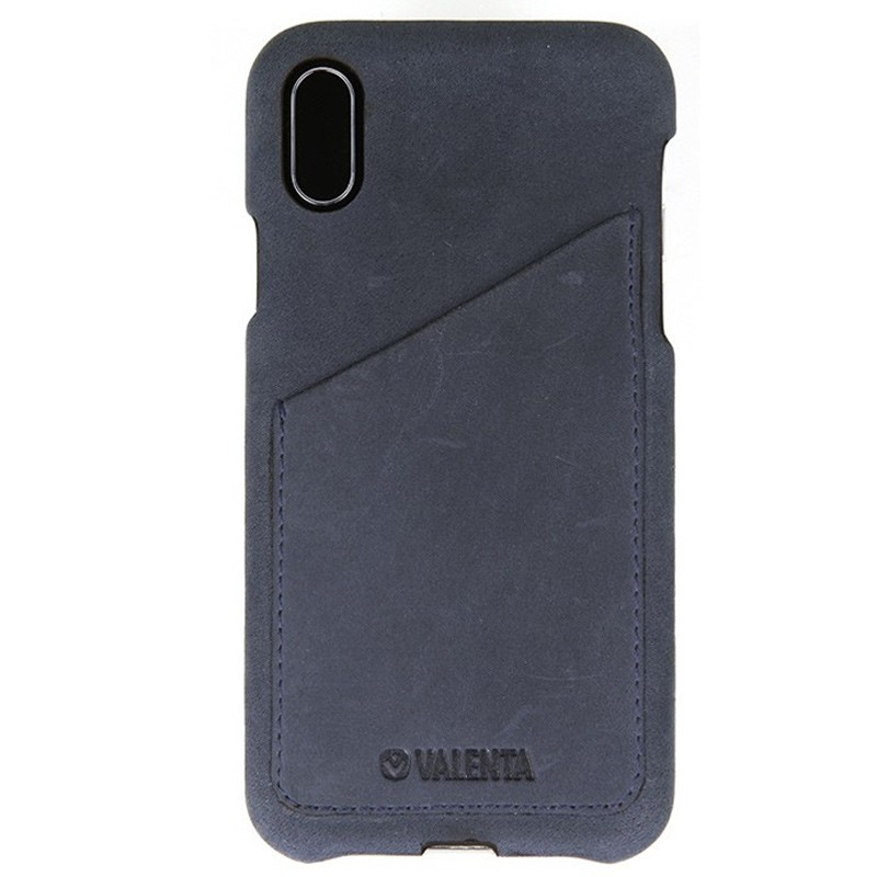 Valenta Back Cover Classic Luxe iPhone X/Xs Vintage Blue - 1