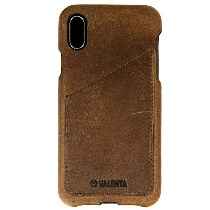 Valenta Back Cover Classic Luxe iPhone X/Xs Vintage Brown - 1
