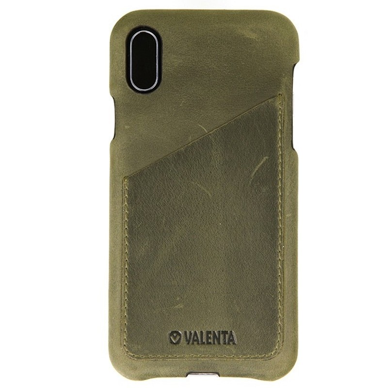 Valenta Back Cover Classic Luxe iPhone X/Xs Vintage Green - 1